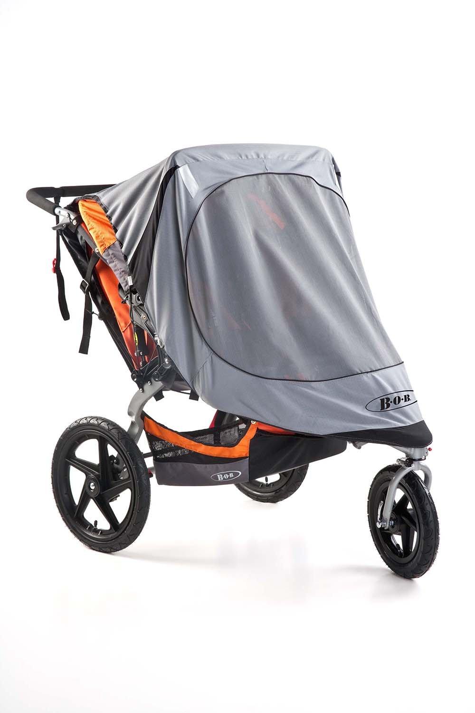 BOB Sun Shield for Duallie Swivel Wheel Strollers, Grey