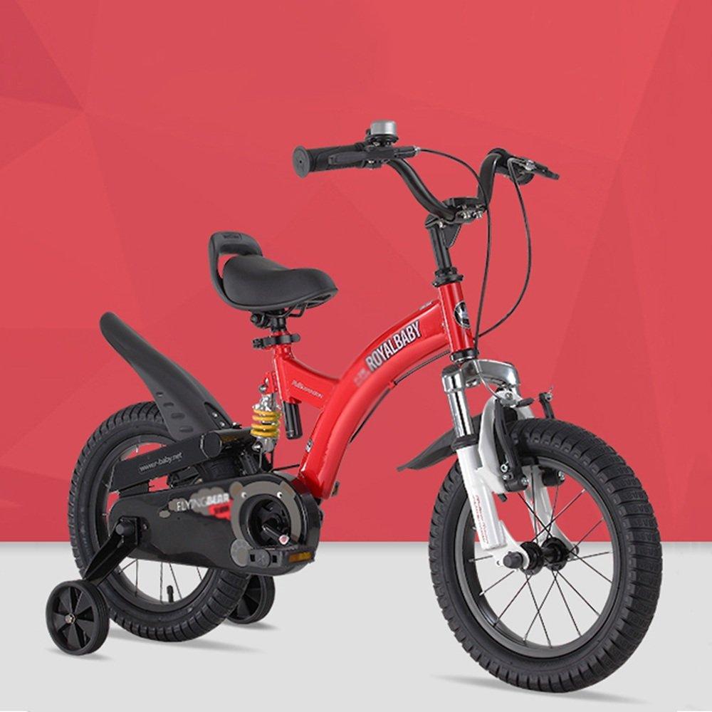 YANGFEI 子ども用自転車 ボーイチャイルドバイクショックアブソーバーベビーカーショックバイク 212歳 B07H3GCBGQ 14Inch|Red Red 14Inch