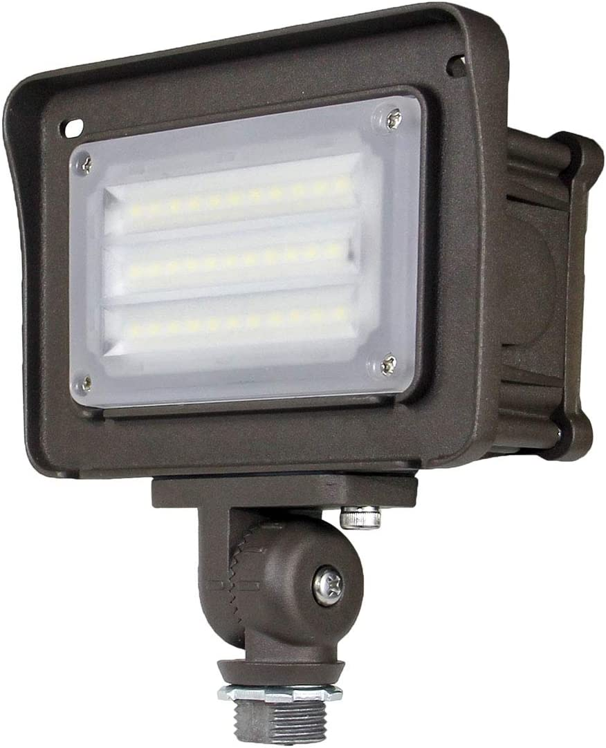 Dakason 30W LED Flood Light Outdoor, Dusk-to-Dawn Photocell 180° Adjustable Knuckle, 3600LM 5000K Replaces 100W HPS/MH, IP65 Waterproof Outdoor Security Lighting Fixture, 100-277Vac ETL DLC Listed: Home Improvement