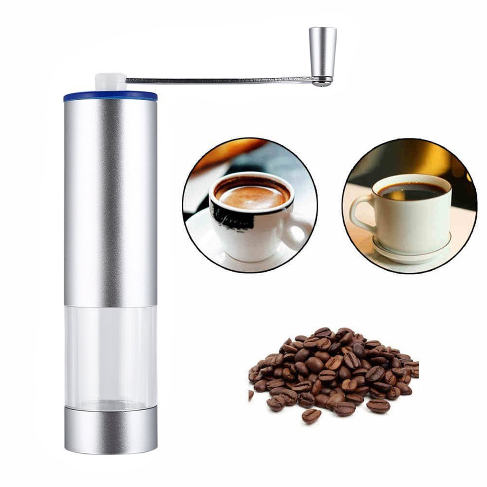 KUKE JYPC Manual Coffee Grinder Sets,Includes Manual Coffee Grinder Silicone Coffee Dripped and Disposable Paper Coffee Filters - Always Improve Your Life Quality