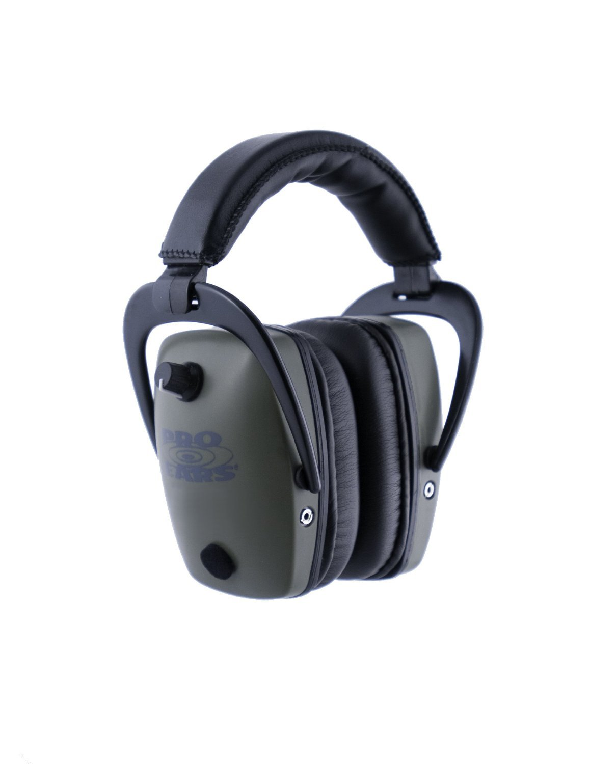 Pro Ears - Pro Tac Slim Gold - Military Grade Hearing Protection and Amplification - NRR 28 - Ear Muffs -  Lithium 123a Batteries - Green
