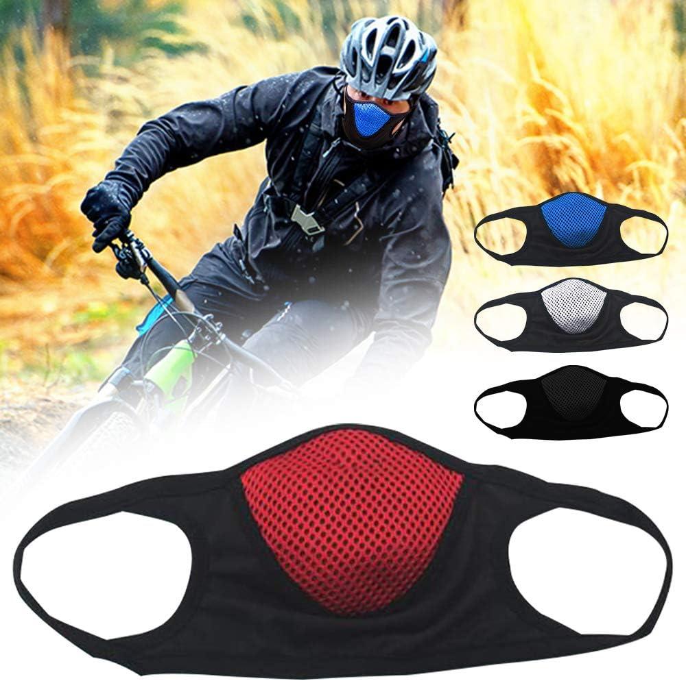 Protector Facial de algod/ón Reutilizable Lavable Deportivo Cubierta de la Boca para Correr Ciclismo Motocicleta Protecci/ón Facial Anti-Ultravioleta Anti-vaho Transpirable Protector Facial
