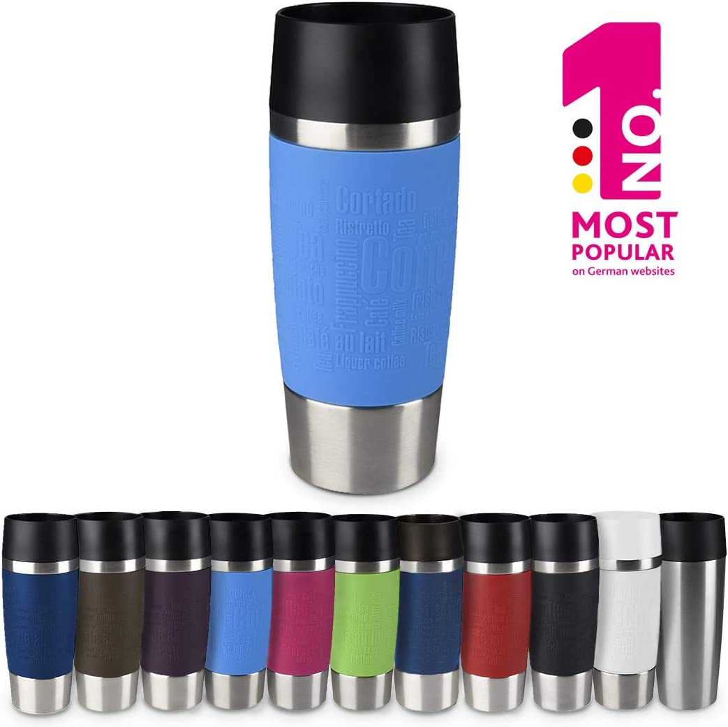 "Emsa Vacuum mug""Travel Mug"" 12.2 fl .oz. in waterblue, Waterblue"