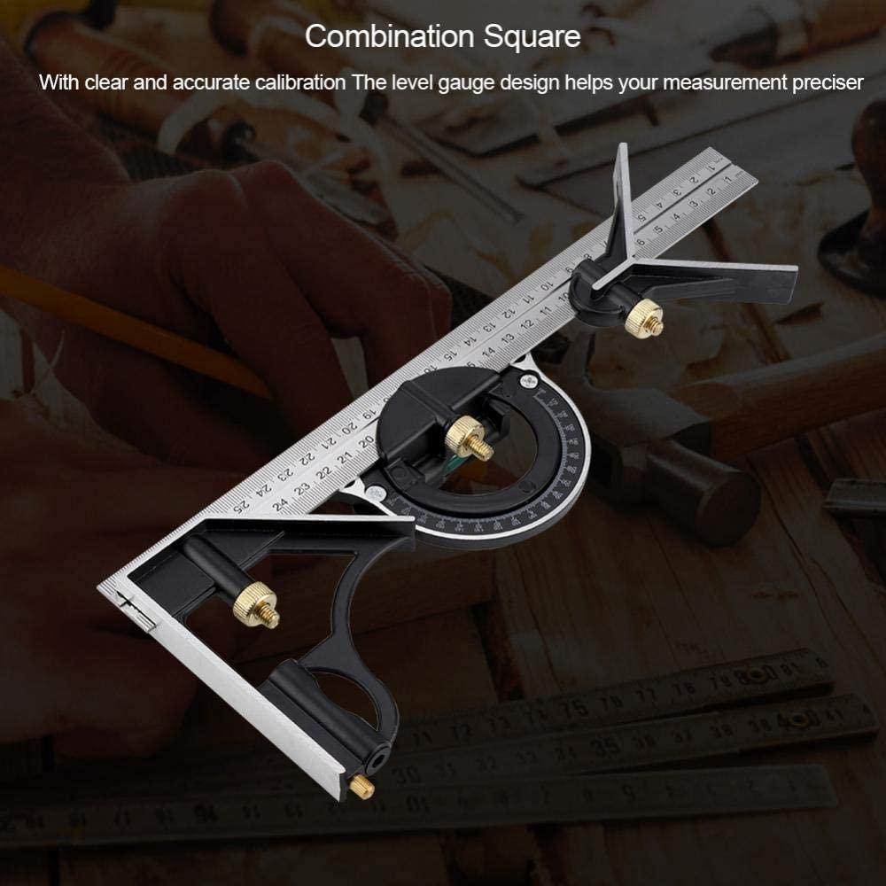 Right Angle Ruler Professional for Engineer for Building 300MM Multi-Function Combination Square Weiyirot Durable Measuring Tool Angle Ruler