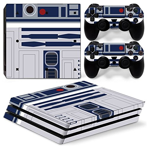 Ps4 PRO Playstation 4 PRO Console Skin Decal Sticker R2D2 + 2 Controller Skins Set (Pro Only)