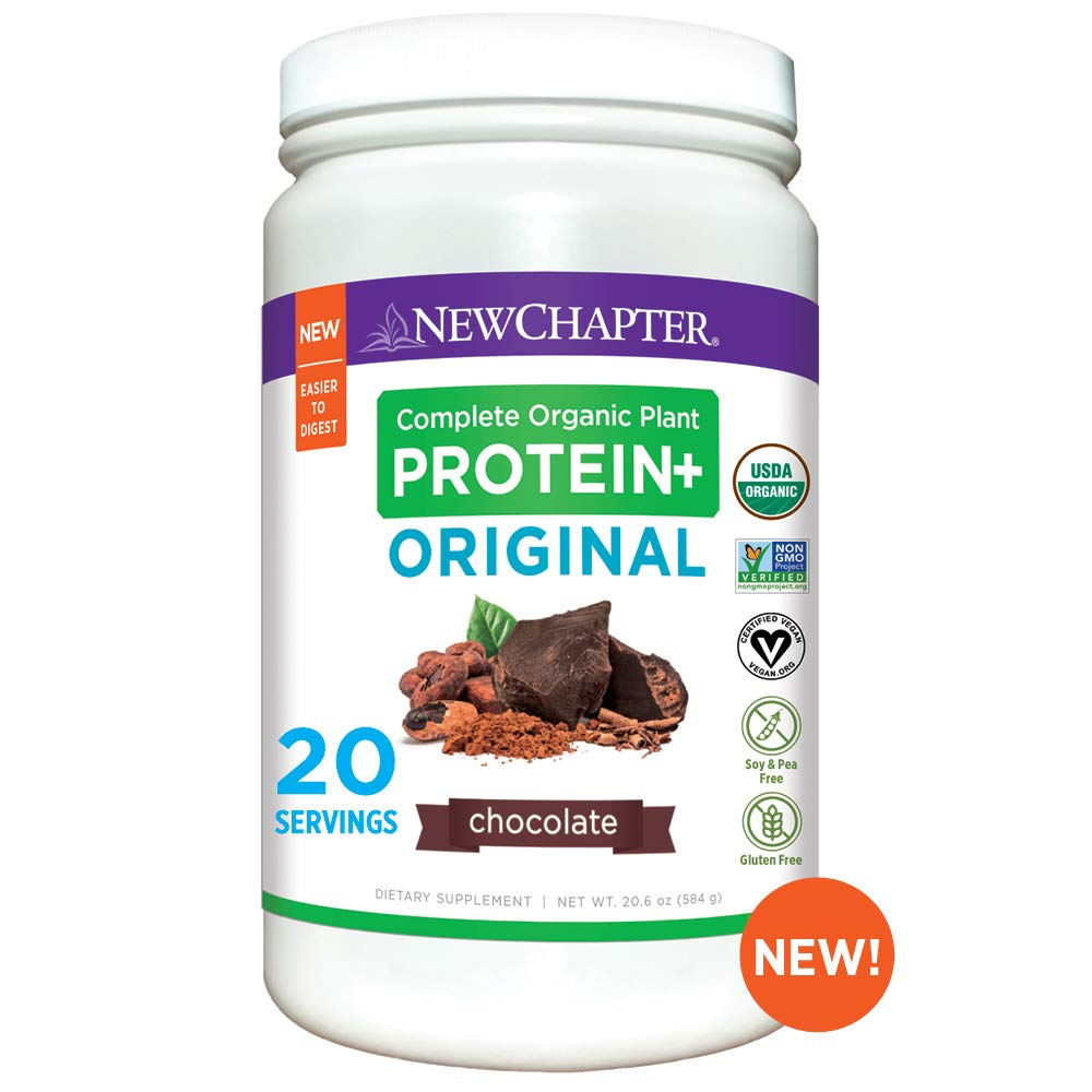 New Chapter Organic Plant Protein+ Original, Chocolate