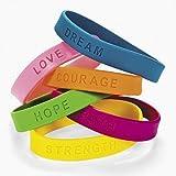 24 Inspirational Sayings Bracelets (Assorted Colors)