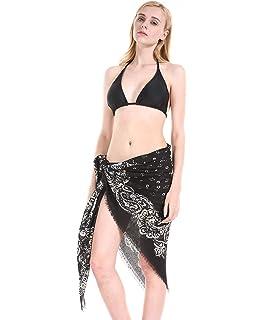 Amazon.com: Pareo de playa para mujer elegante traje de baño ...