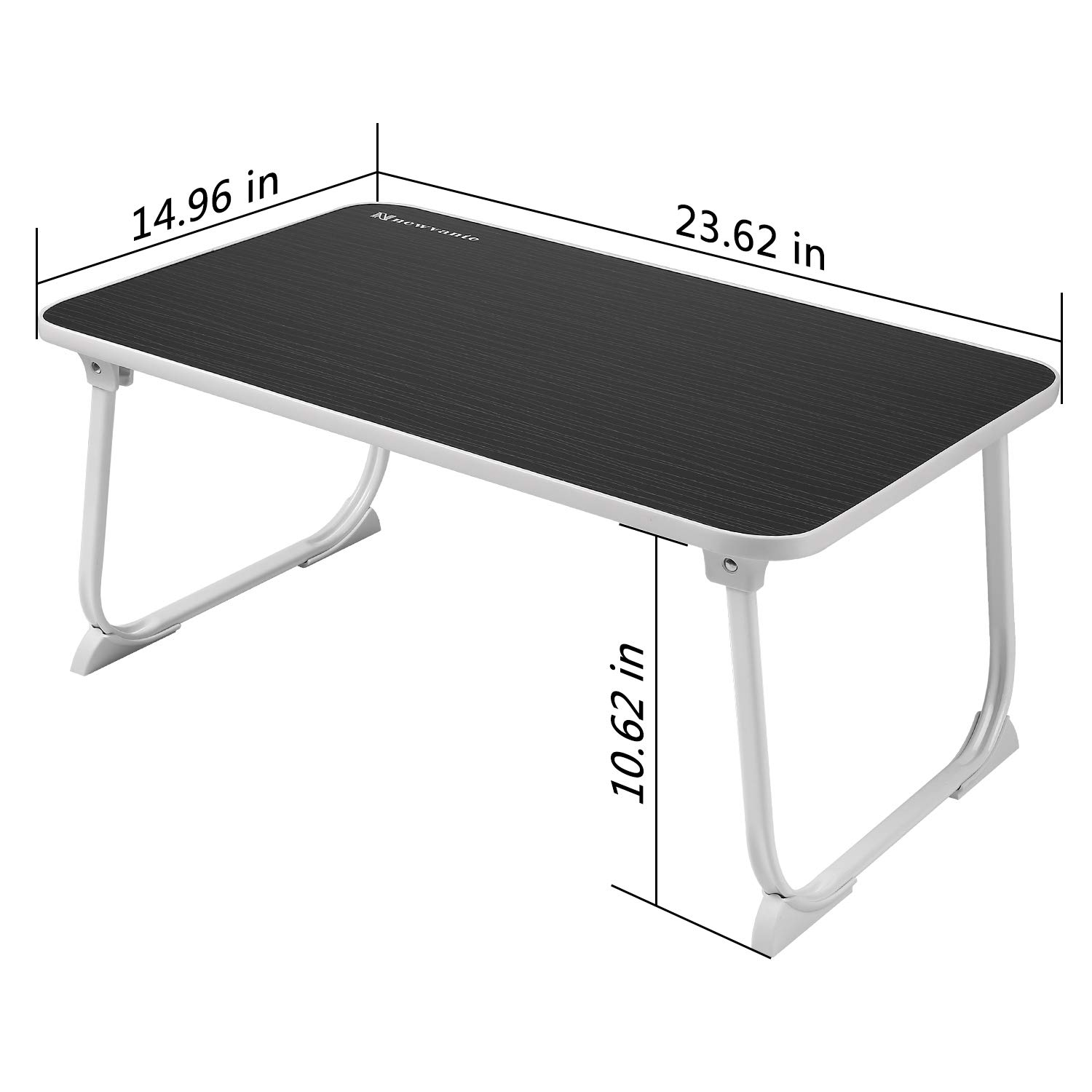 Large Lap Desk Bed Tray NNEWVANTE Laptop Table Desk Foldable Portable Standing Breakfast Reading Tray Holder for Couch Floor Students Kids Young Color(Black) by NNEWVANTE (Image #3)