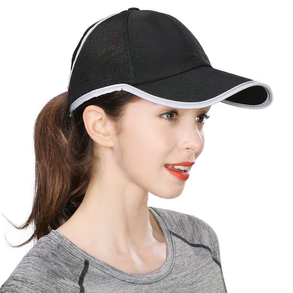 Comhats Womens Mesh High Ponytail Baseball Cap Messy Bun Summer Outdoor Sports Sun Hat Adjustable