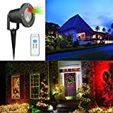 Podofo Christmas Laser Lights Projector Waterproof Aluminum Xmas LED Light With RF Wireless Control For Landscape and Yard Decorations
