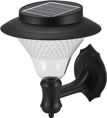 Lámpara de pared portátil con 8 luces LED solares para exteriores, jardín, valla de jardín, lámpara de paisaje: Amazon.es: Iluminación