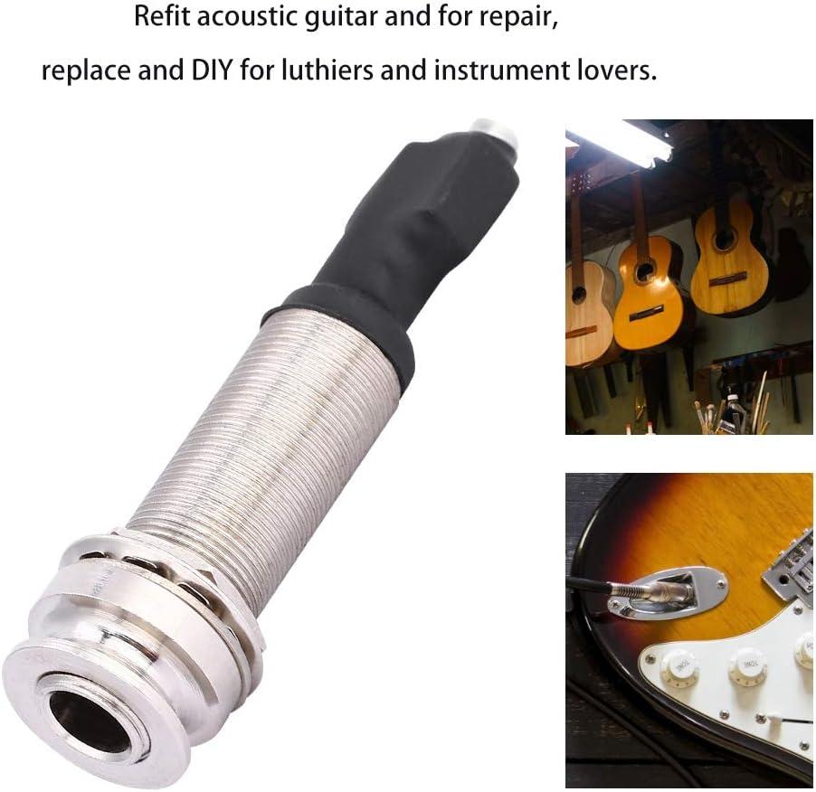 Fafeims Prise Jack pour Guitare Entr/ée 2,5 mm Sortie 6,35 mm