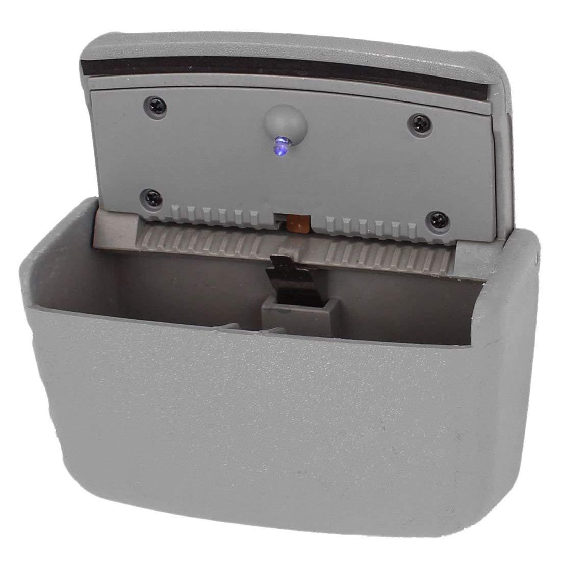 SODIAL Graue Kunststoff KFZ Aschenbecher rauchfrei rechteckig R