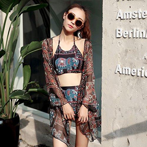 YONGYI Frau im westlichen Stil und sexy Sommer Strand Bikini 3 Kits lufthutzen Bademode & Spa, Badekleidung