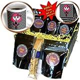 3dRose Janna Salak Designs Gothic, Cute Goth Punk Rock Girl, Coffee Gift Baskets