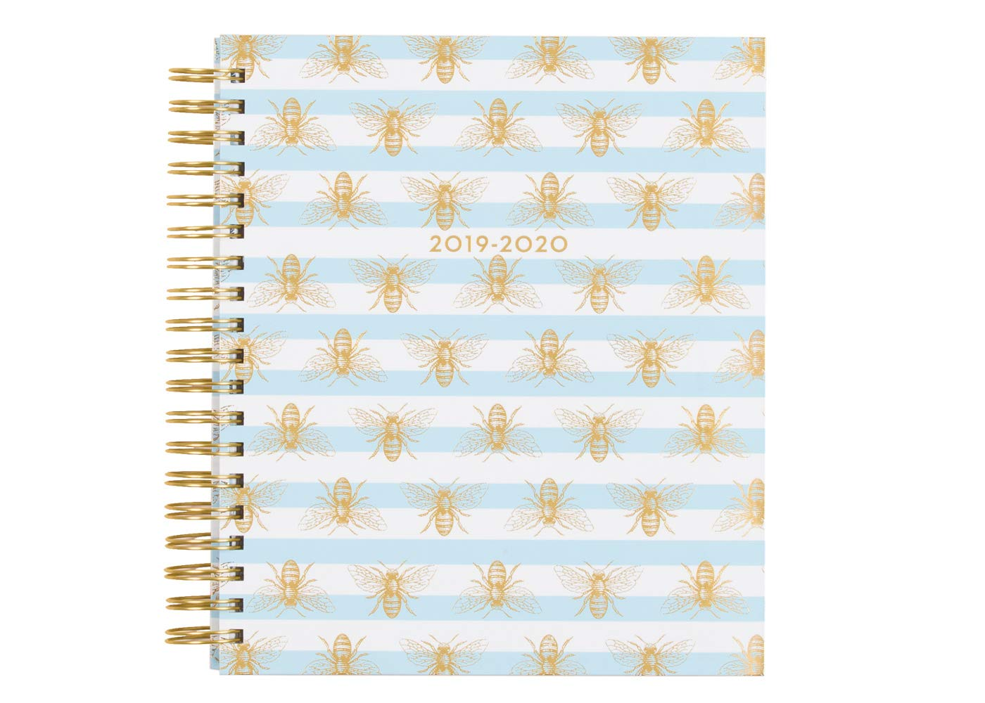 Dabney Lee for Blue Sky 2019-2020 Academic Year Daily & Monthly Planner, Hardcover, Gold-Tone Twin-Wire Binding, 8'' x 10'', Buzzed