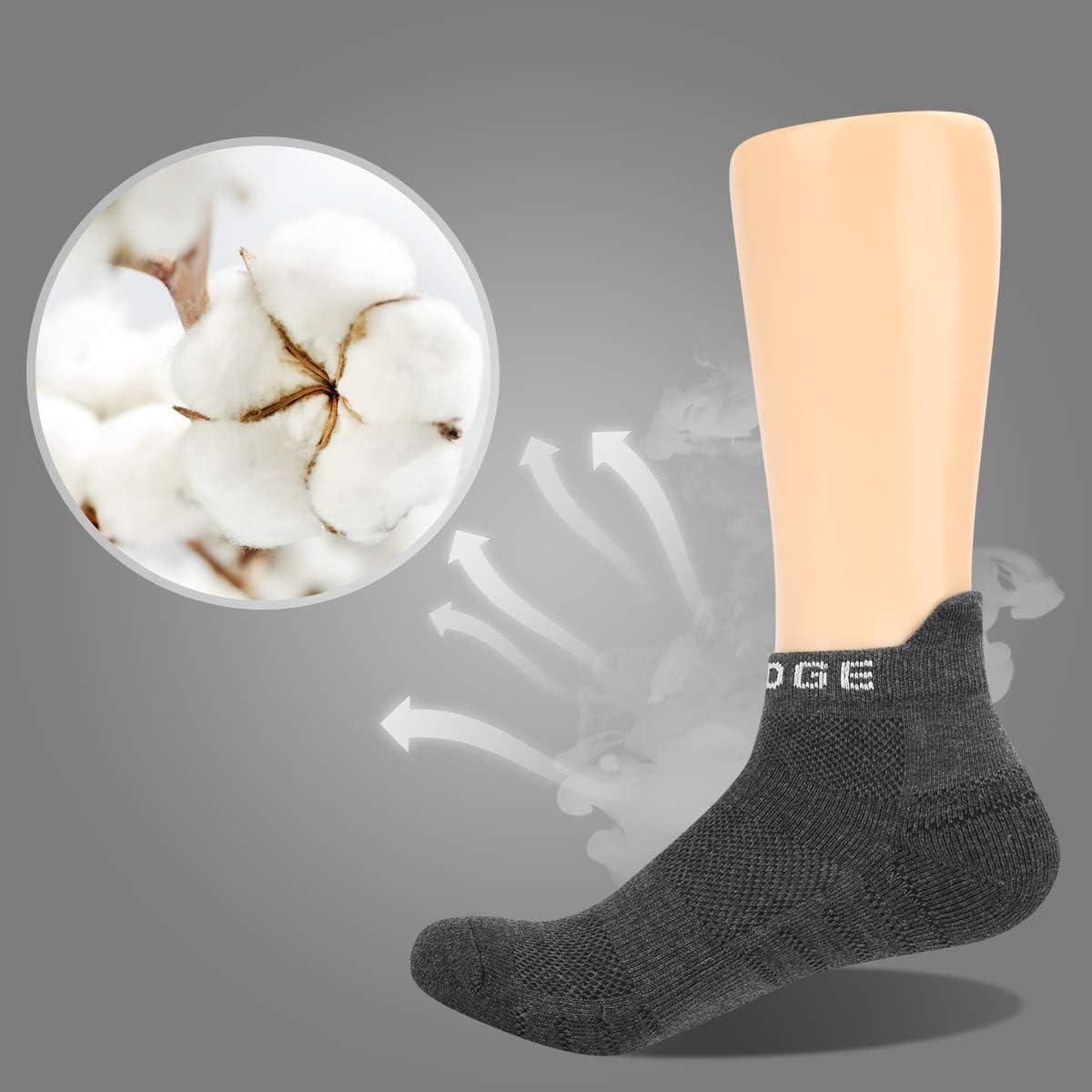 YUEDGE 5 Paar Low Cut Sportsocken Sneakersocken Kn/öchelsocken Laufsport Running-Socken f/ür Herren
