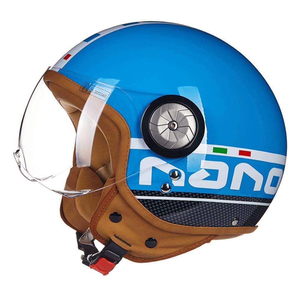 Farbe : Black1, gr/ö/ße : M Motorradhelm M/änner und Frauen Half-Covered Halbe Helm Prince Helm Retro Elektroauto Vier Jahreszeiten Motorrad Schutzhelm