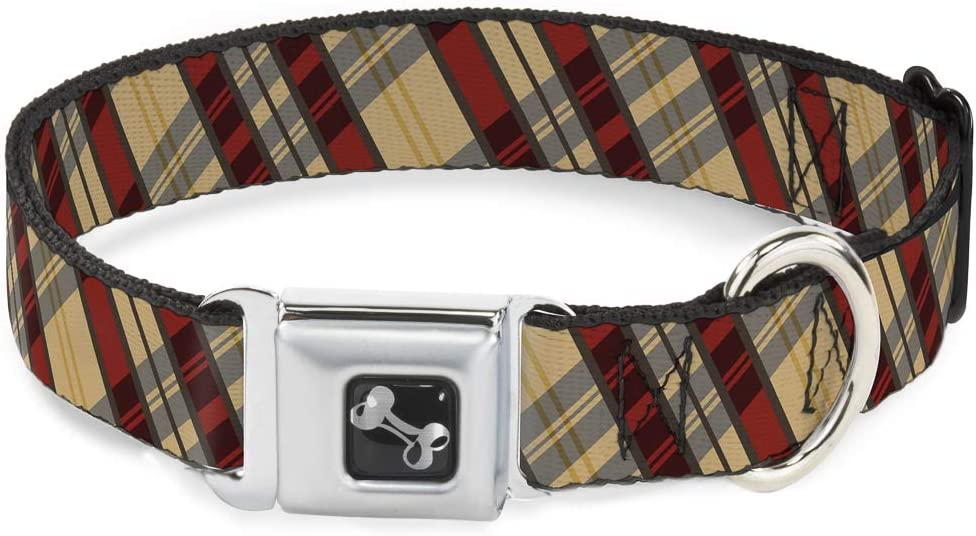 Dog Collar Seatbelt Buckle Max 55% OFF Americana Plaid X Max 71% OFF 11 1.0 17 Inches to