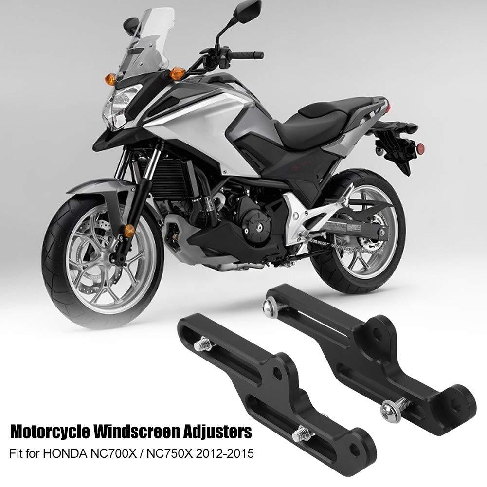 Windschutzscheiben-Versteller Windschutzscheibenhalterung f/ür Honda NC700X // NC750X 2012-2015 Farbe : Black Motorrad-Windschutzscheiben-Versteller