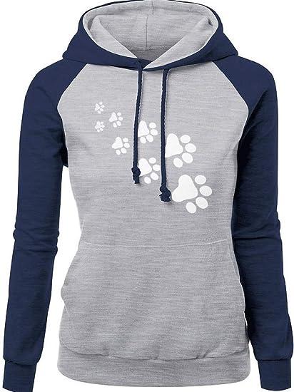 Cocrao Damen Langarm Kapuzen Pullover Winter Casual Loose Hohe Kragen Sweatshirt  Hoodie Pulli mit Tasche 667c9702ba