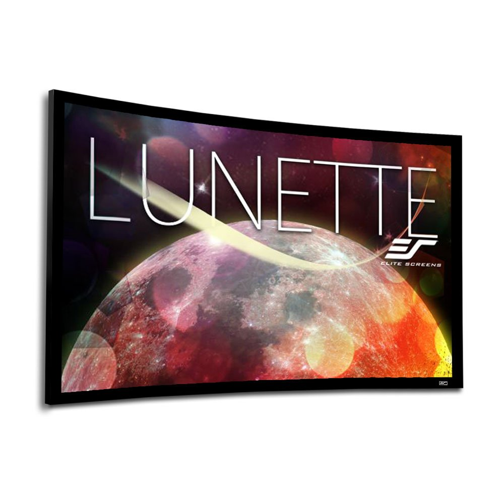 Elite Screens Lunette Series, 150'' Diag. 16:9, Sound Transparent Curved Home Theater Fixed Frame Projector Screen, CURVE150H-A1080P3