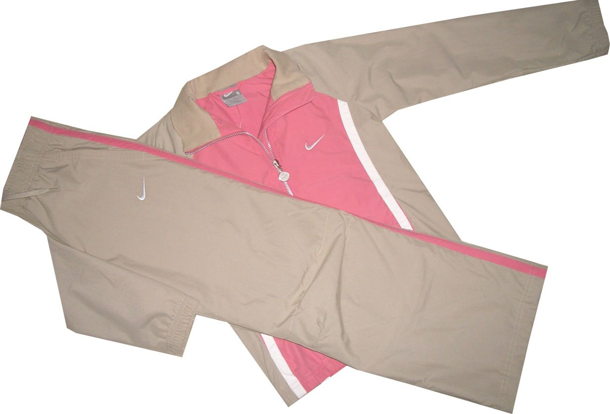SurvêteHommest Nike Girls 'Femme Veste & Pantalon Vieux Rose Beige 212517–602 Taille Girls' L = 152–158 cm – env. 12–13 ans