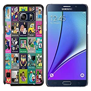 Dragon Case - FOR Samsung Note 5 N9200 N920 - life there is hope - Caja protectora de pl??stico duro de la cubierta Dise?¡Ào Slim Fit
