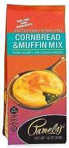 Pamela's Products Gluten Free Cornbread and Muffin Mix -- 12 oz - 2PC
