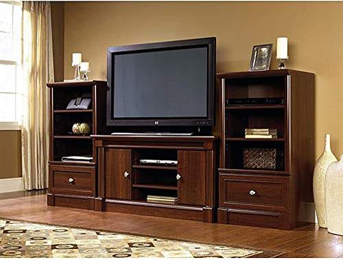 Dual Tower Televison TV 50″ Entertainment Center and Media Stand Storage Tower