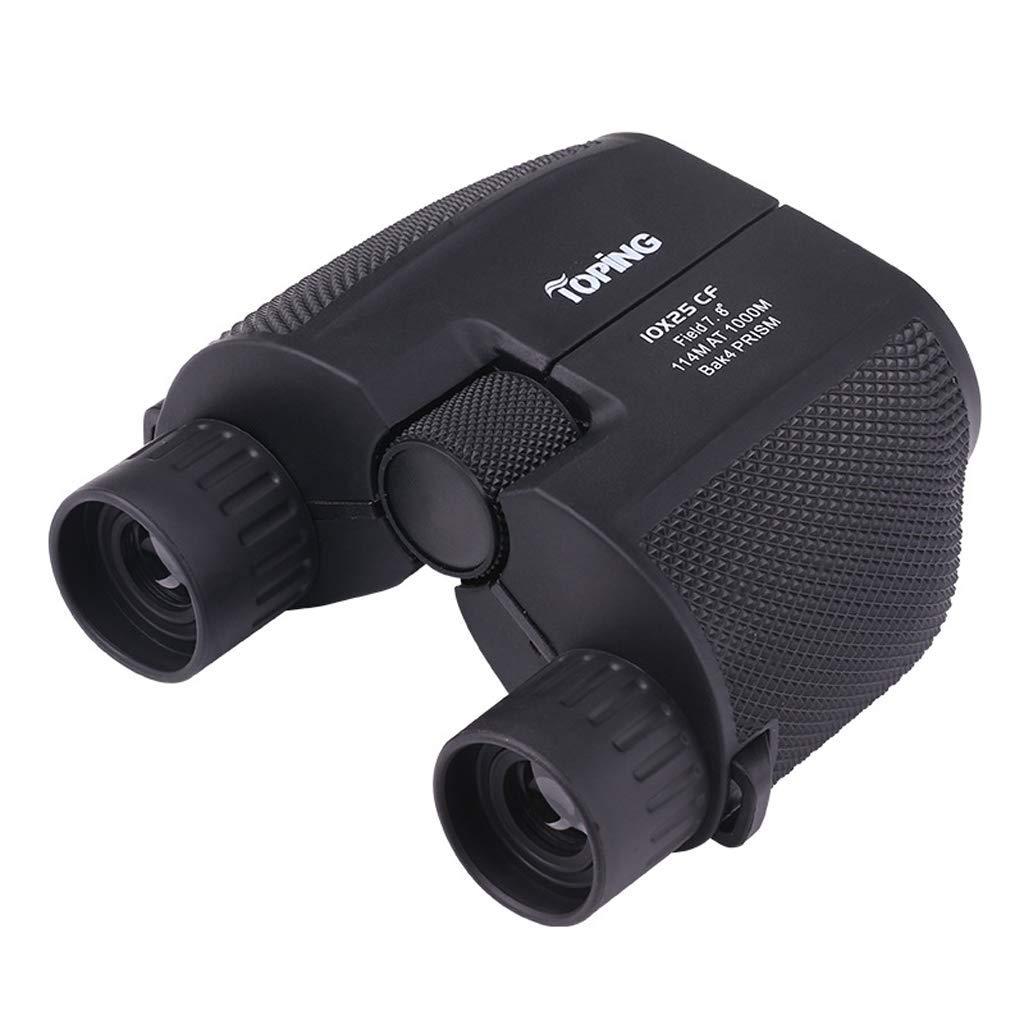 Binoculars Portable Compact 10 * 25 Waterproof Telescope Outdoor - Black
