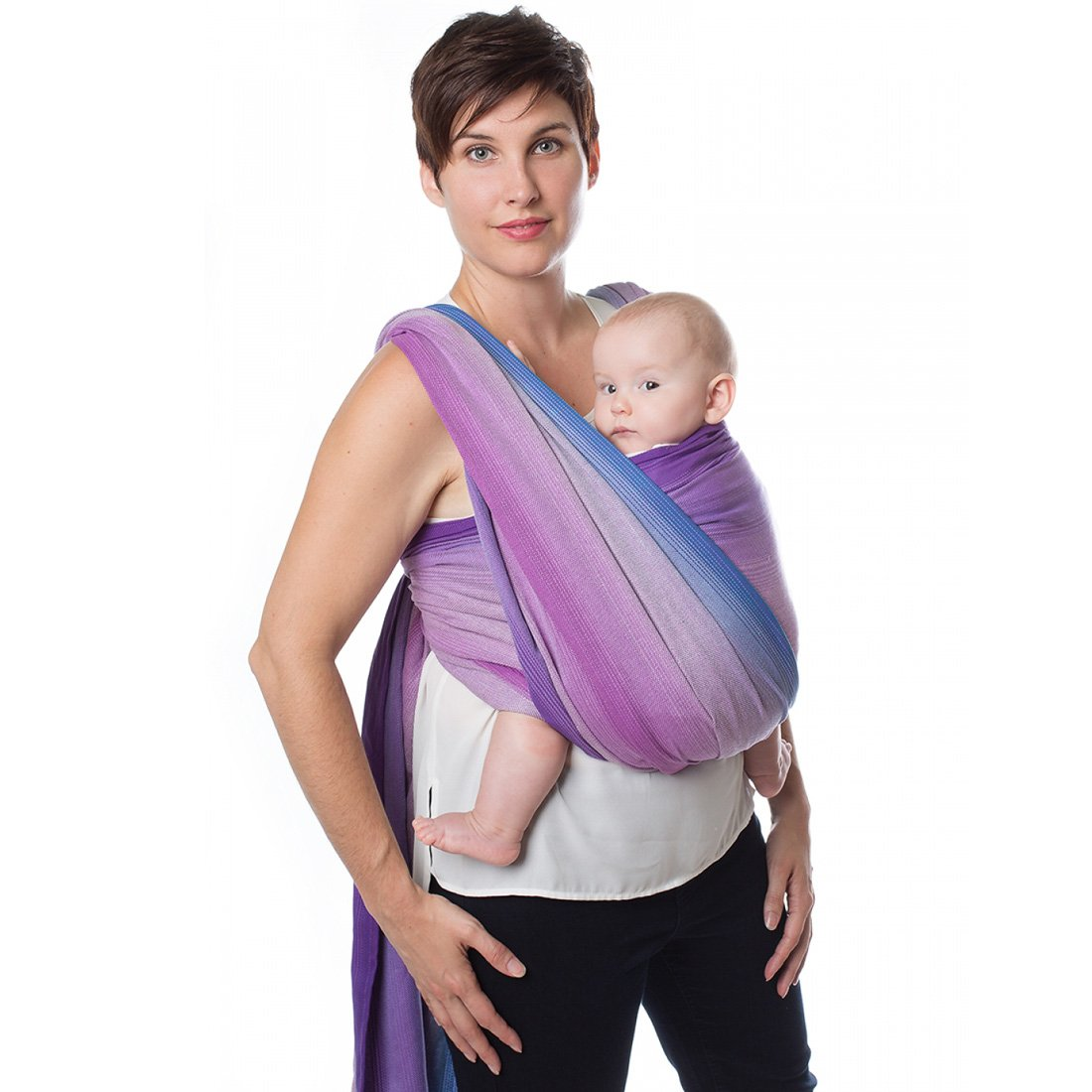 Made in Canada Chimparoo Organic Cotton Woven Baby Wrap Regular Size 4.5 Meter Amethyst