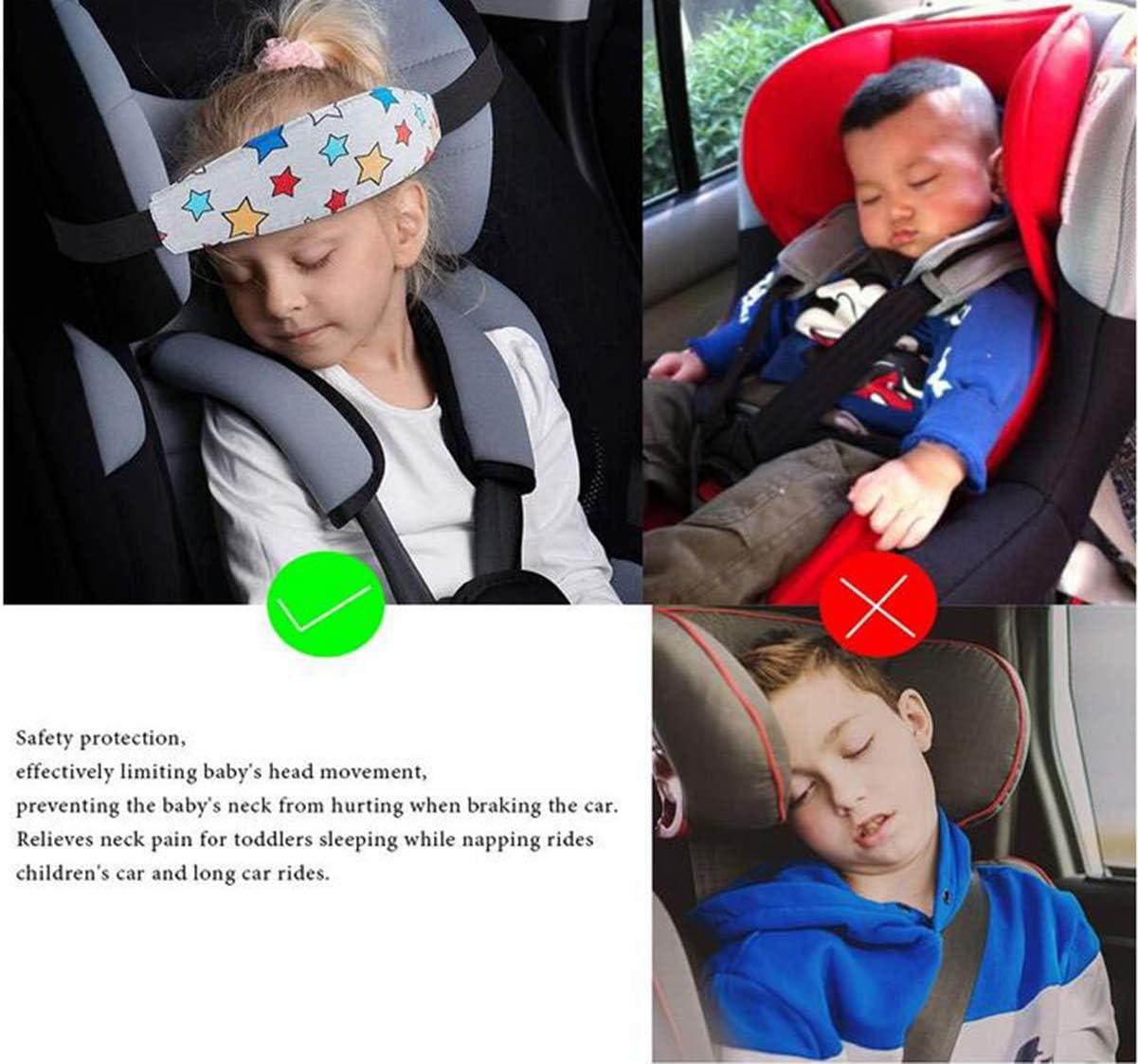 Bebé Soporte Cabeza,Biluer 4PCS Ajustable Cinturón Seguridad Coche ...