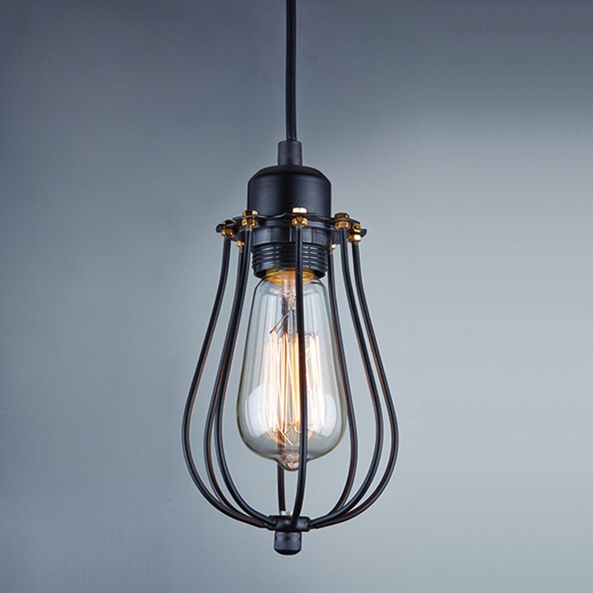 Ecopower Vintage Style Industrial Hanging Light Black Mini Pendant ...