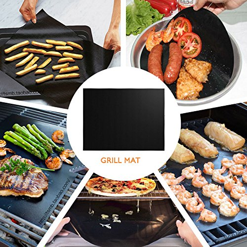 T-Language 6 Sheet Grill Mat, Reusable Barbecue Mat, Suitable For ovens, Gas Stoves, Charcoal Grills, Etc Dimensions: 15.75 x 13 Inches by T-Language (Image #3)
