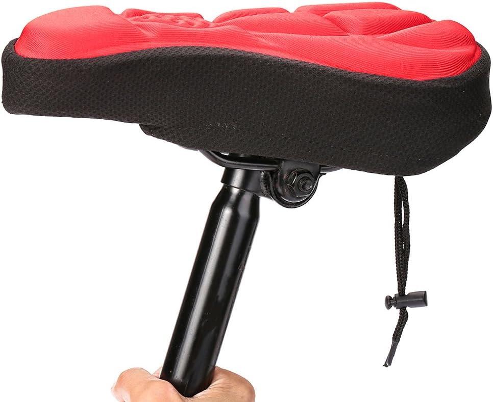 Anyutai Funda de cojín de cojín de Gel de Asiento de Bicicleta 3D para sillín de Bicicleta Extra Suave