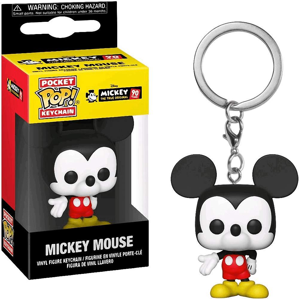 Mickey Mouse: Mickeys 90th Anniversary x Funko Pocket POP! Mini-Figural Keychain + 1 Classic Disney Trading Card Bundle [32568]