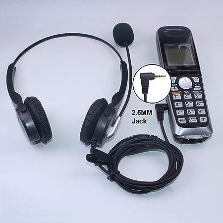 Callez Auriculares Teléfono Fijo Inalámbrico 2,5 mm Dual, Micrófono con Cancelación de Ruido, Cascos Manos Libres para Gigaset C430A C530A BT Phone Panasonic Cisco SPA 303 Polycom Grandstream (C402D): Amazon.es: Electrónica