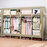 Folding wardrobe dust wardrobe storage assembled cloth wardrobe solid wood double wardrobe,8067''(205170cm),E
