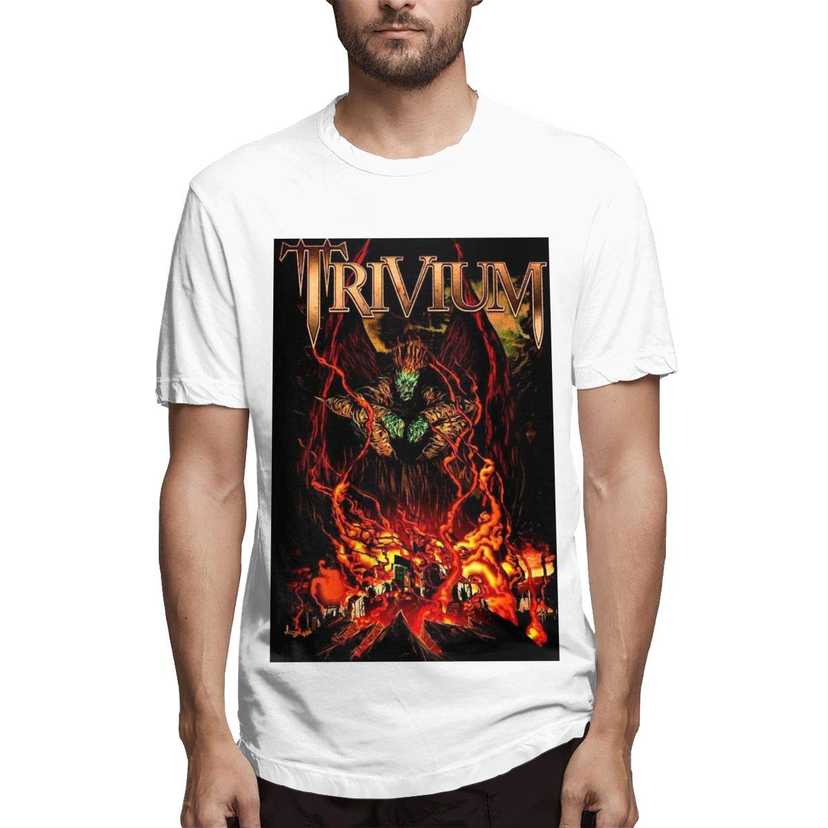Lihehen S Trivium Fashion Leisure Round Neck Shirts