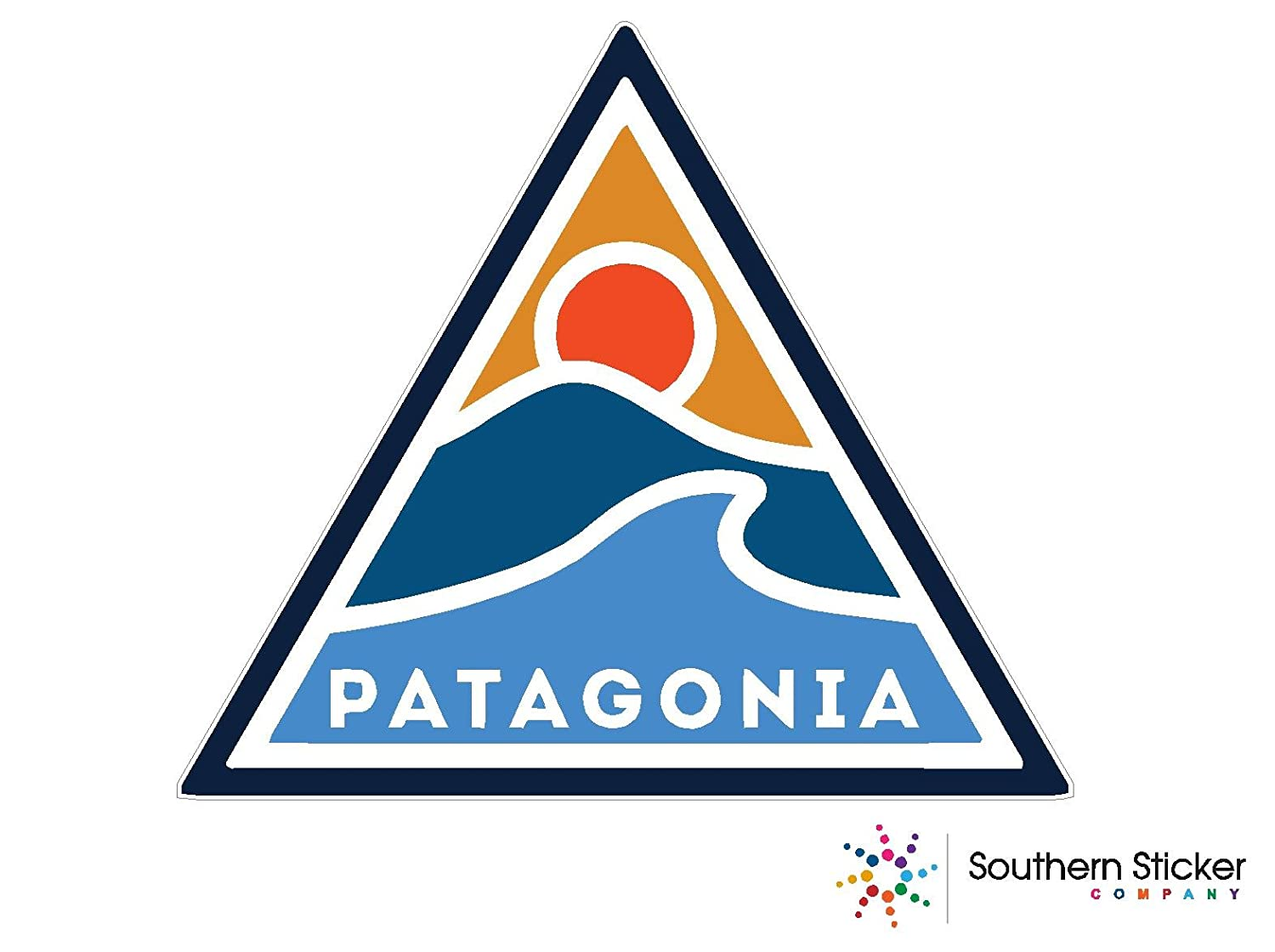 Amazon Patagonia Triangle Sun Wave 4x4 Inches Size Funny