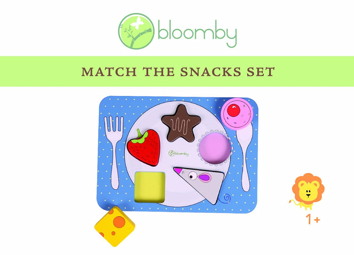 Bloomby Match the Snacks Wooden Educational Toys