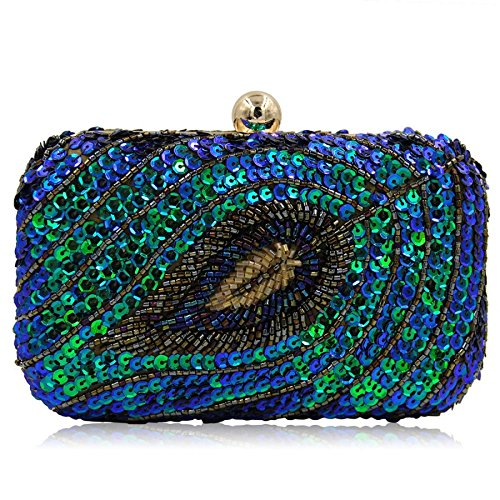 à soirée fête femmes sac de mariage sac bandoulière Blue la de pour sac sac paillettes Mesdames d'embrayage Shimmer poche à main 41FfwqCx