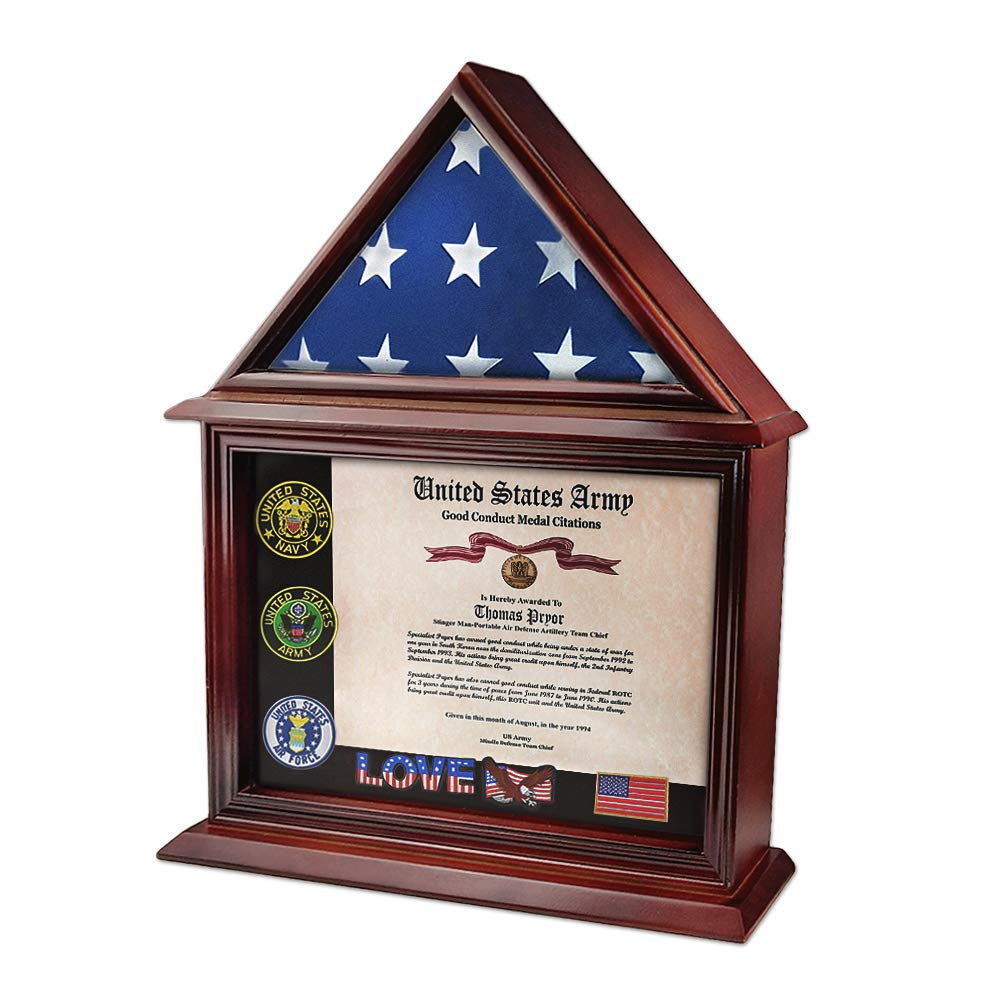 Amazon.com: Indeep Flag Display Case Certificate & Document ...