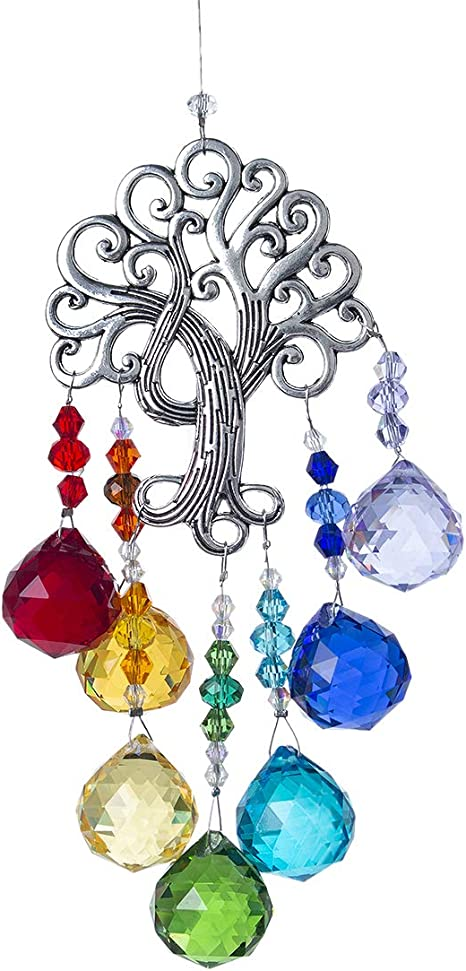 gift bag  Feng Shui Crystal Ab clear 3D Angel hanging  window  suncatcher