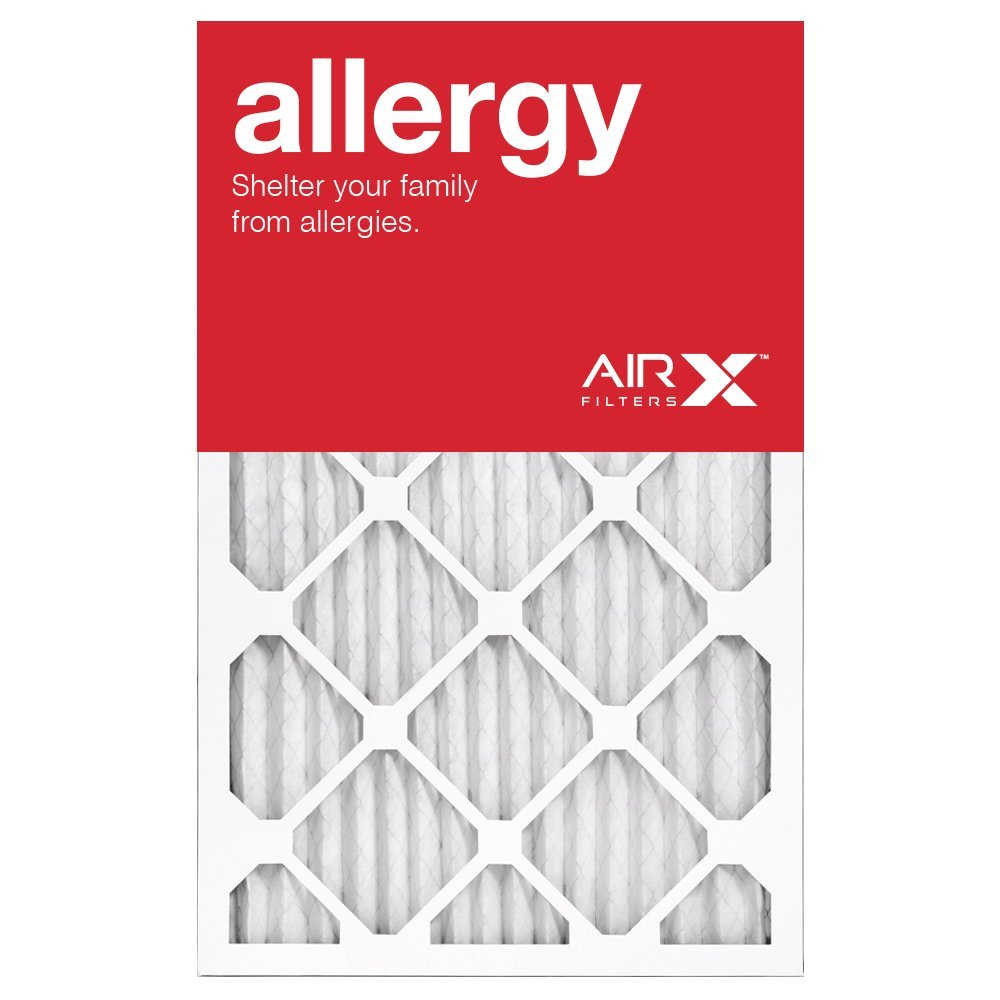 AIRx Filters Allergy 16x25x2 Air Filter MERV 11 AC Furnace Pleated Air Filter Replacement Box of 12, Made in the USA
