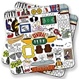 Friends Collage Coaster - Set of 2 (4 inch x 4 inch)