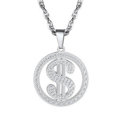 Dollar necklace necklaces pendants stainless steel fashion dollar necklacenecklaces pendantsstainless steelfashion jewelryamerican moneymens aloadofball Images