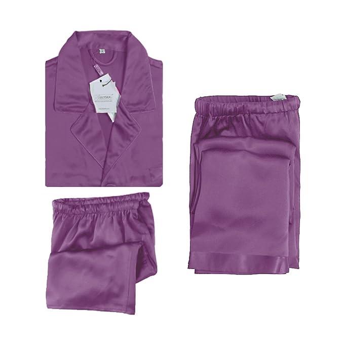 Lilysilk Pijamas Hombre Clásicas De 3 Piezas 100% Seda De Mora De 22 Momme De